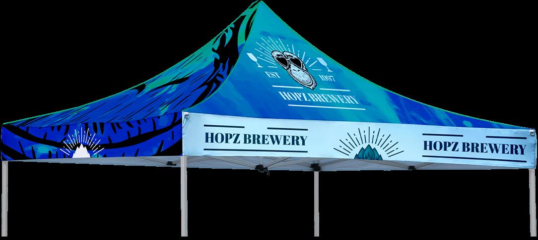Custom Pop Up Tent Infographic