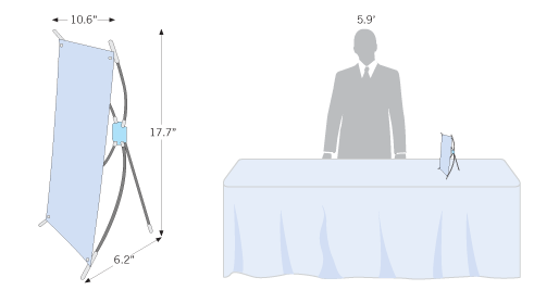 Foldable table banner stand that is also called spider stand
