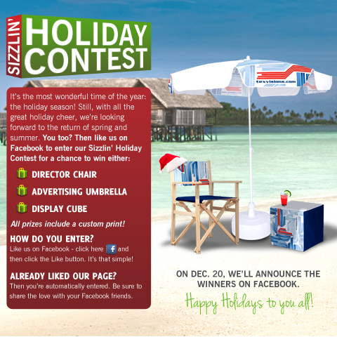 Tex Visions - Sizzlin' Holiday Contest