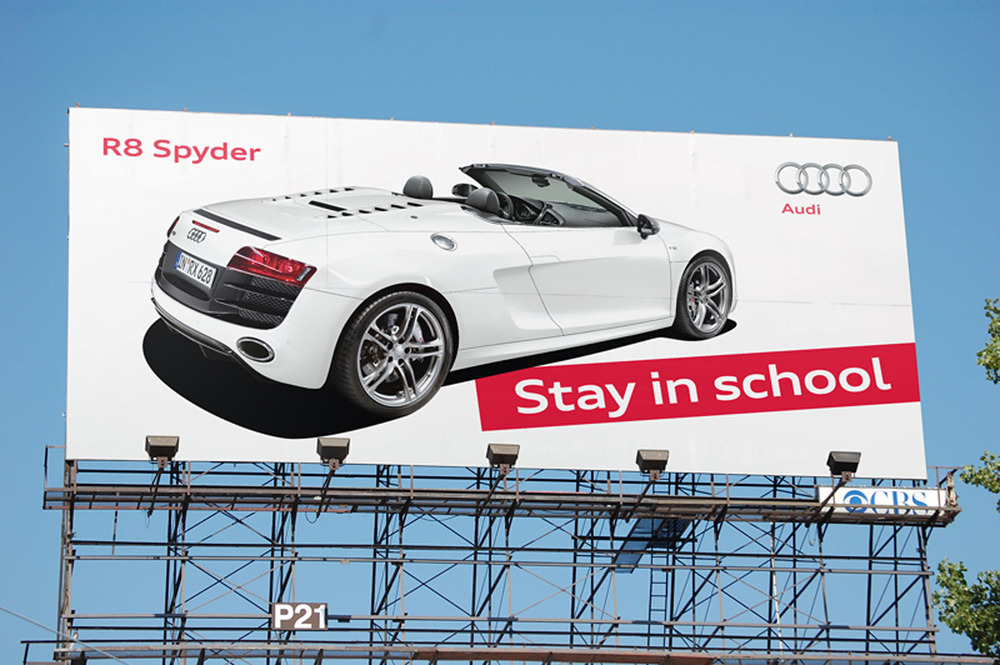 Good outdoor advertising: 5 words, funny, and a clear, obvious message