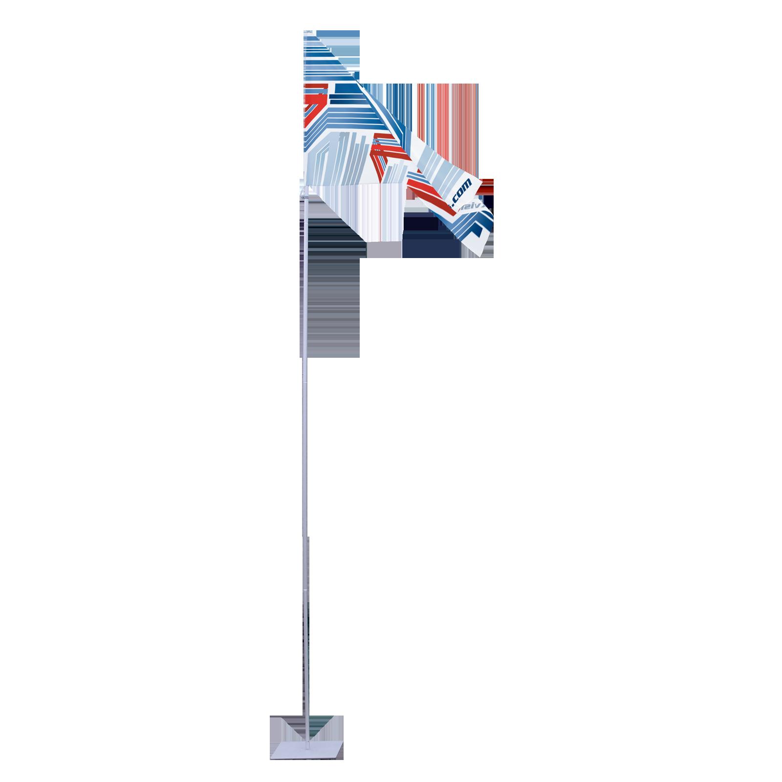 Portable Flagpole no Arm large landscape advertising flags